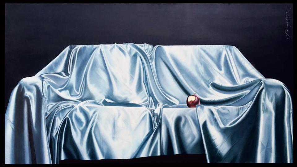 """""""Descansa Pecado Original"""", Serie 7pk2. Óleo sobre tela, 140x250cm, 2015"""